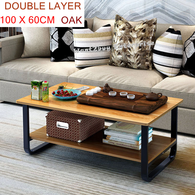 4 Wooden Design Mansfield Steel Design Double Layer Coffee Side Table 11street Malaysia Tables