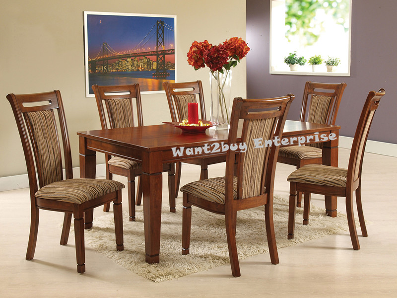 SANDANIA 6 Cushion Chair 1 Rectangle Solid Wood Dining  : 02 from www.11street.my size 800 x 600 jpeg 162kB