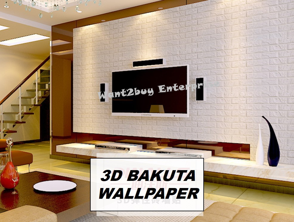 Large size 3d wallpaper brick design foam diy home decor for 3d wallpaper for home malaysia