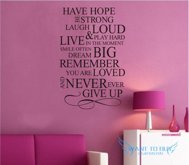 Have Hope Wall Sticker Quotes And Saying Decals Wallpaper Home Deco